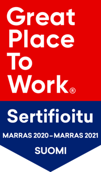 Great Place to Work sertifikaatti.